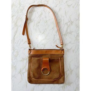 Bric's brown crossbody bag with large ring